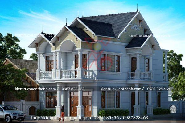 mẫu nhà biệt thự đẹp 2 tầng BT18191 - Ảnh 2