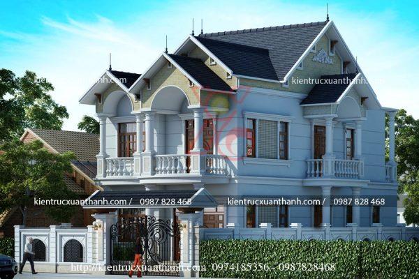 mẫu nhà biệt thự đẹp 2 tầng BT18191 - Ảnh 3