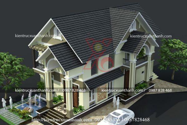 mẫu nhà biệt thự đẹp 2 tầng BT18290 - Ảnh 1