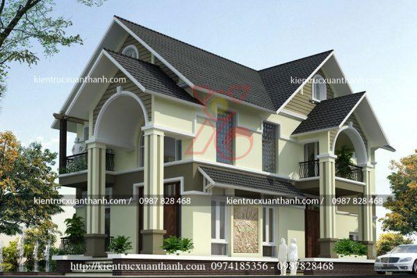 mẫu nhà biệt thự đẹp 2 tầng BT18290 - Ảnh 2
