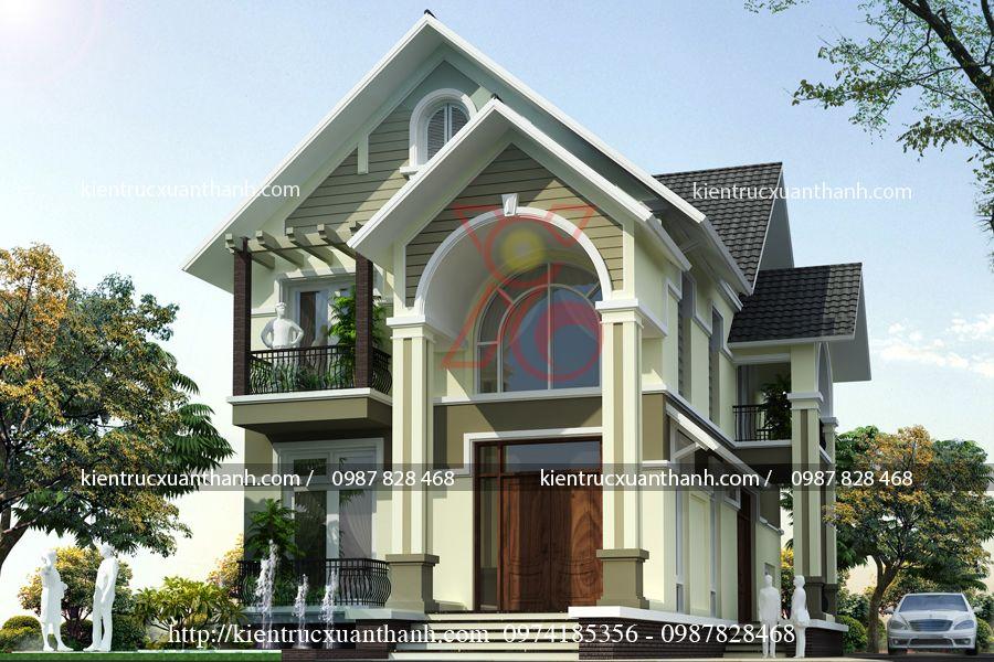 mẫu nhà biệt thự đẹp 2 tầng BT18290 - Ảnh 3