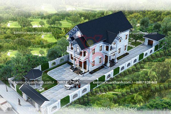 mẫu nhà đẹp 2 tầng có sân vườn BT18289 - Ảnh 1