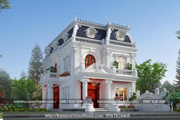 thiết kế biệt thự 2 tầng tân cổ điển đẹp BT18229 - Ảnh 2
