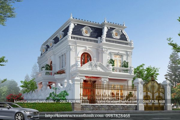 thiết kế biệt thự 2 tầng tân cổ điển đẹp BT18229 - Ảnh 3