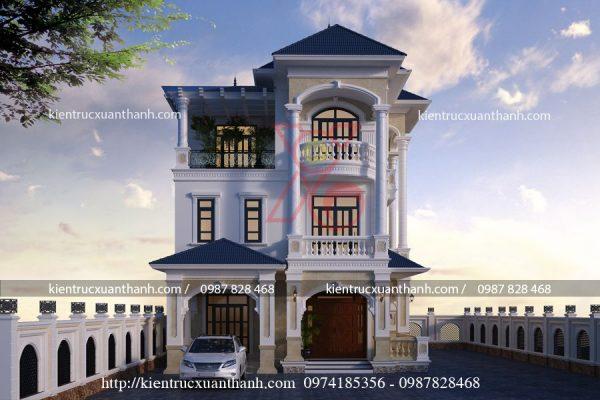 thiết kế biệt thự 3 tầng tân cổ điển BT18459 - Ảnh 2