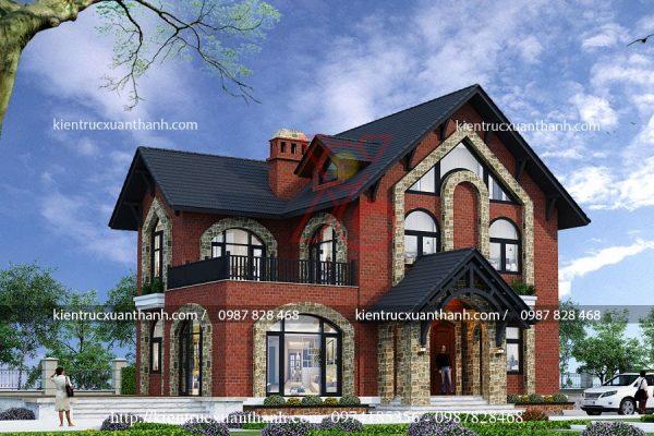 thiết kế biệt thự vườn 2 tầng BT18294 - Ảnh 2