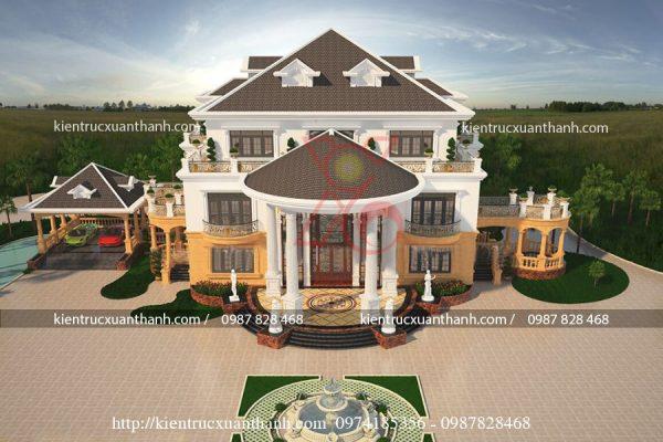 thiết kế lâu đài đẹp BT18229 - Ảnh 1