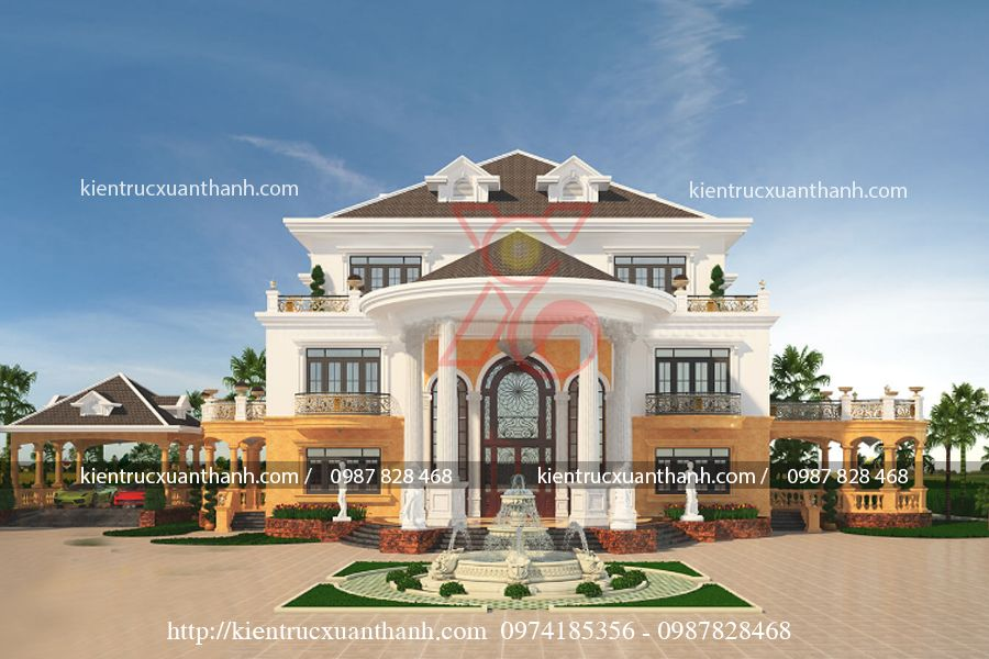 thiết kế lâu đài đẹp BT18229 - Ảnh 2