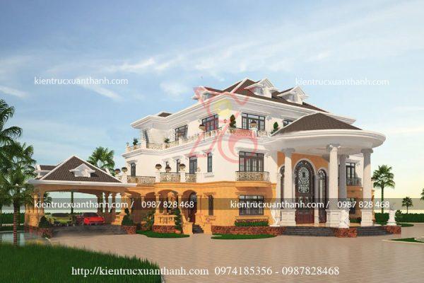 thiết kế lâu đài đẹp BT18229 - Ảnh 3
