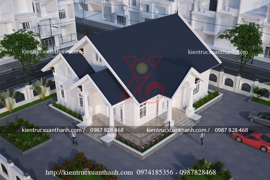 thiết kế nhà 1 tầng đẹp BT1249.1