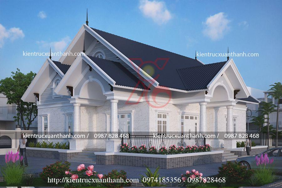 thiết kế nhà 1 tầng đẹp BT1249.2