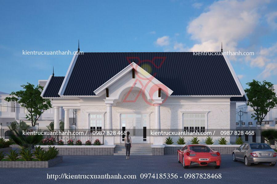 thiết kế nhà 1 tầng đẹp BT1249.3