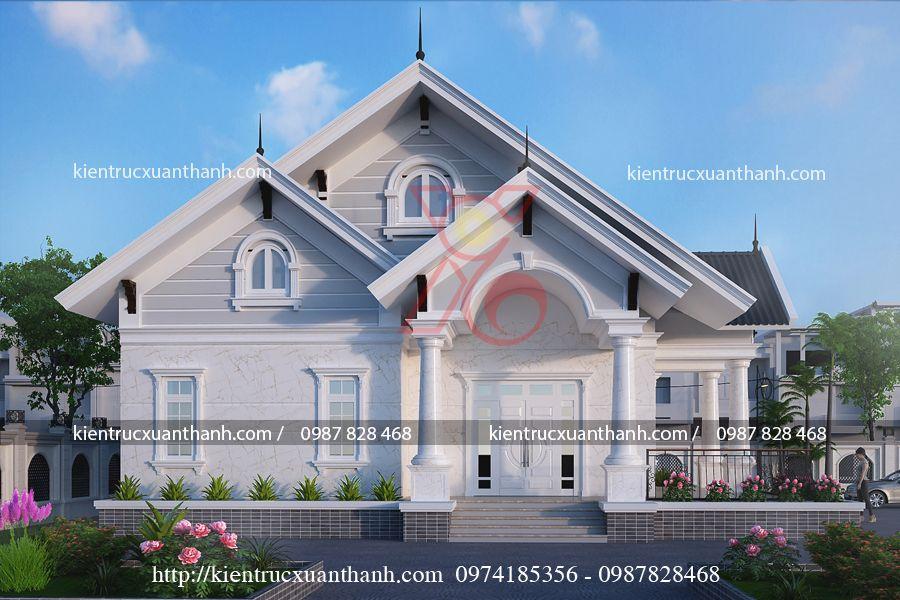 thiết kế nhà 1 tầng đẹp BT1249.4