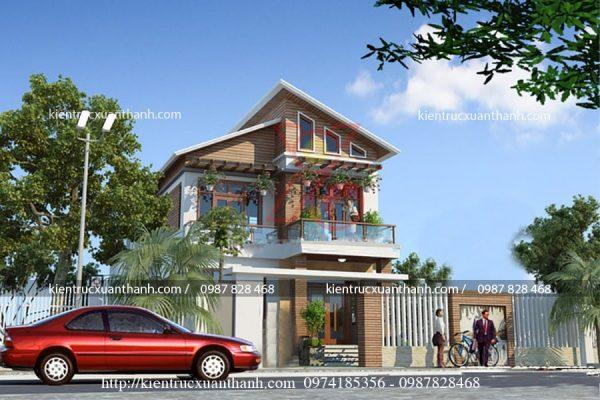thiết kế nhà 2 tầng đẹp BT18254 - Ảnh 1