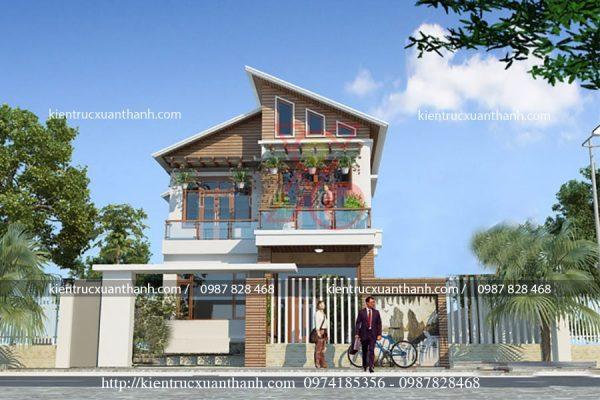 thiết kế nhà 2 tầng đẹp BT18254 - Ảnh 2