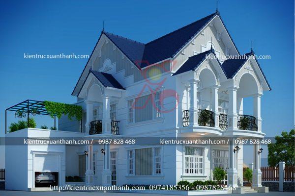 mẫu thiết kế nhà 2 tầng đẹp BT18280 - Ảnh 1