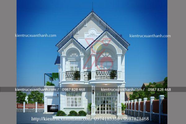 mẫu thiết kế nhà 2 tầng đẹp BT18280 - Ảnh 2