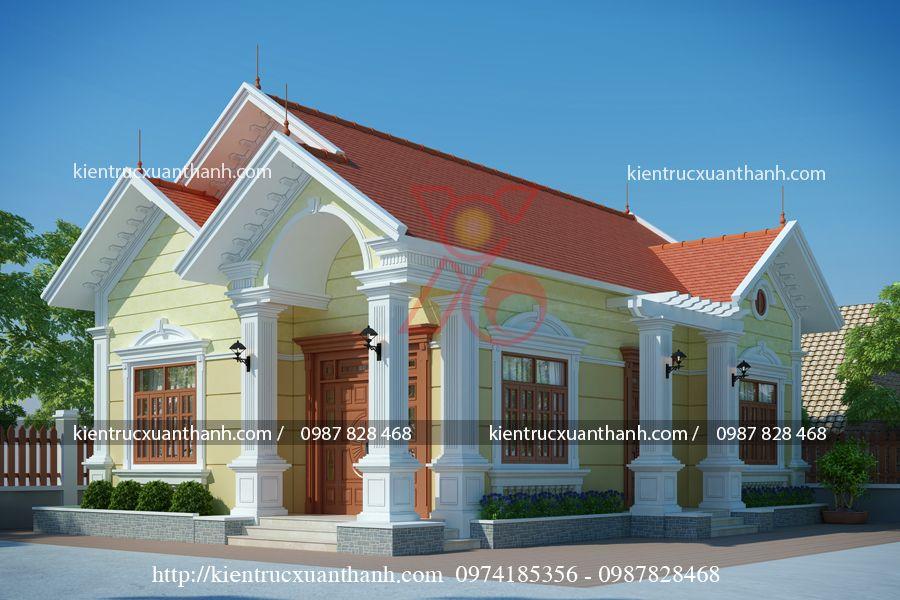 thiết kế nhà biệt thự 1 tầng đẹp BT18247.1