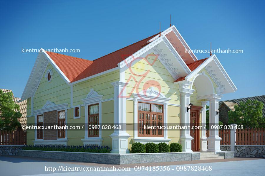 thiết kế nhà biệt thự 1 tầng đẹp BT18247.2