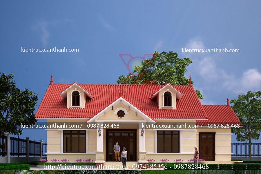 thiết kế nhà biệt thự 1 tầng BT18248.2