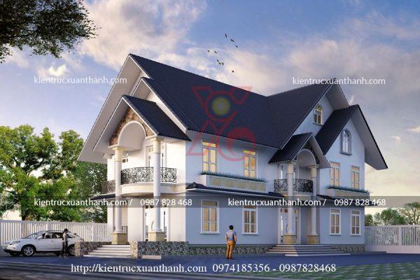 thiết kế nhà đẹp 2 tầng BT18278.1