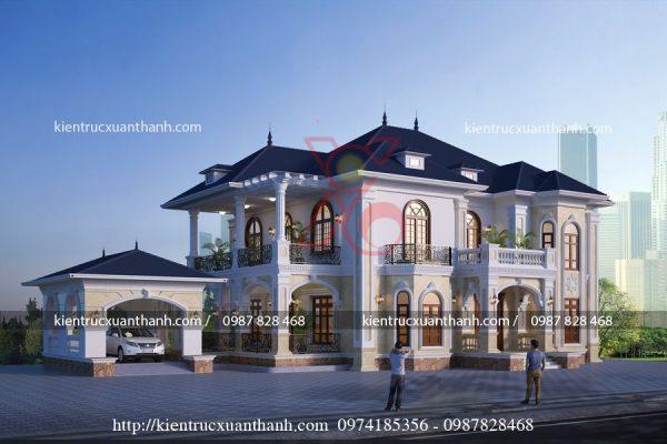 Thiết kế nhà đẹp 2 tầng BT18279.1