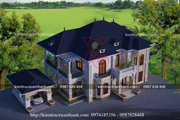 Thiết kế nhà đẹp 2 tầng BT18279.2