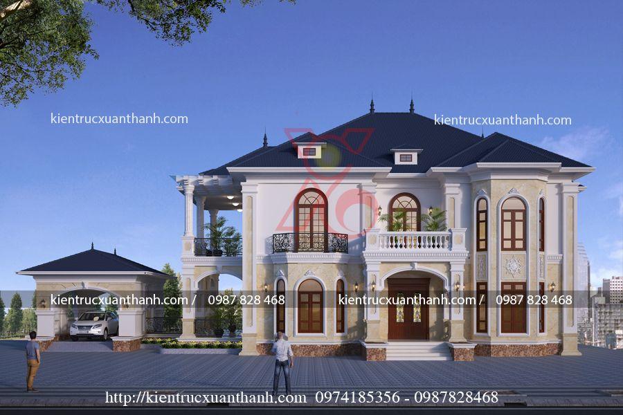 Thiết kế nhà đẹp 2 tầng BT18279.3
