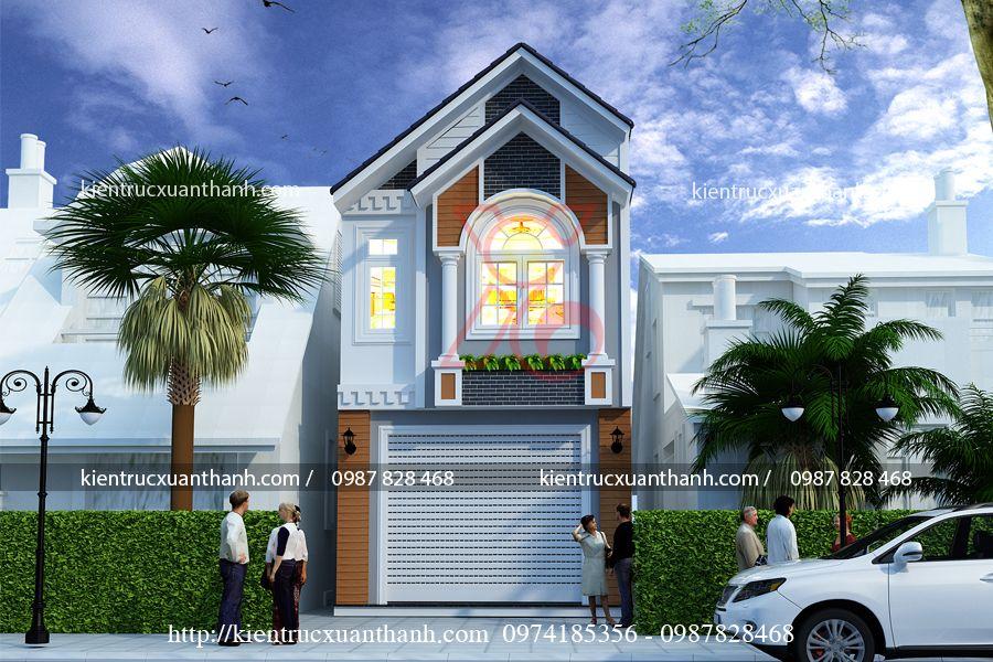 thiết kế nhà phố hiện đại NP18315 - Ảnh 1