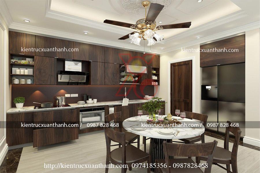thiết kế nội thất phòng khách tân cổ điển 47.1
