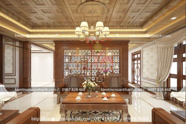 thiết kế nội thất phòng khách tân cổ điển 46.02