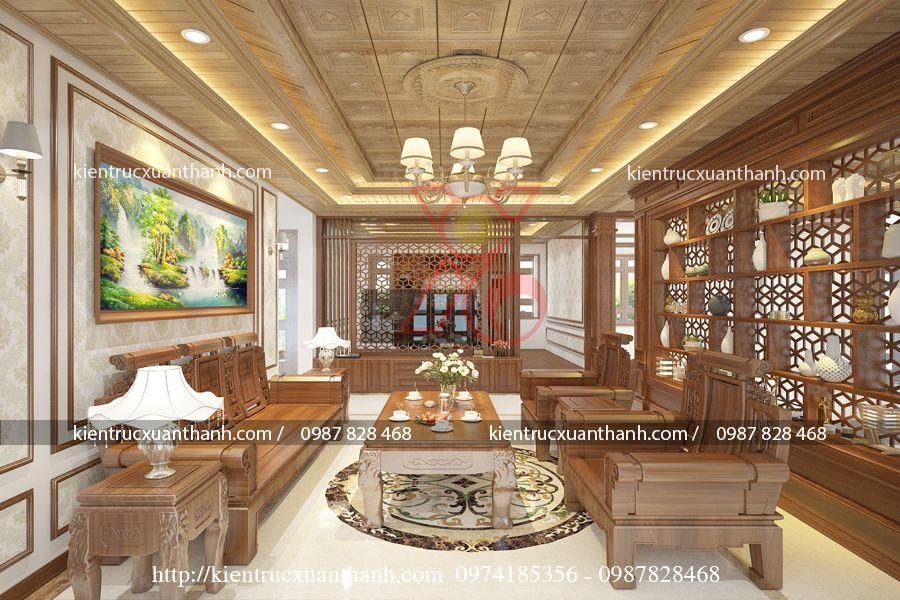 thiết kế nội thất phòng khách tân cổ điển 46.01