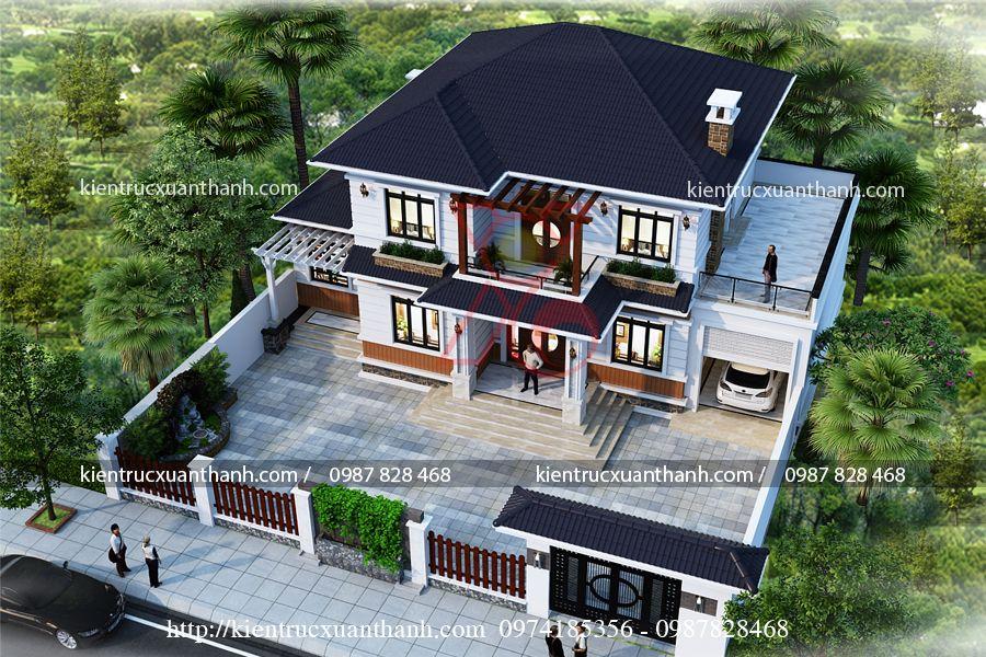 biệt thự 2 tầng mái thái BT18318 - Ảnh 1