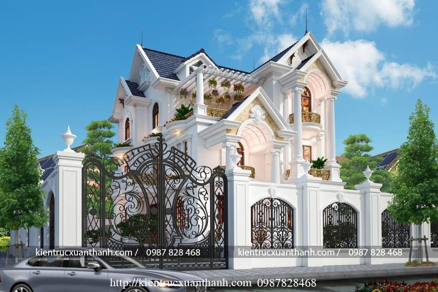 Biệt thự cổ điển đẹp BT18464 - Ảnh 2