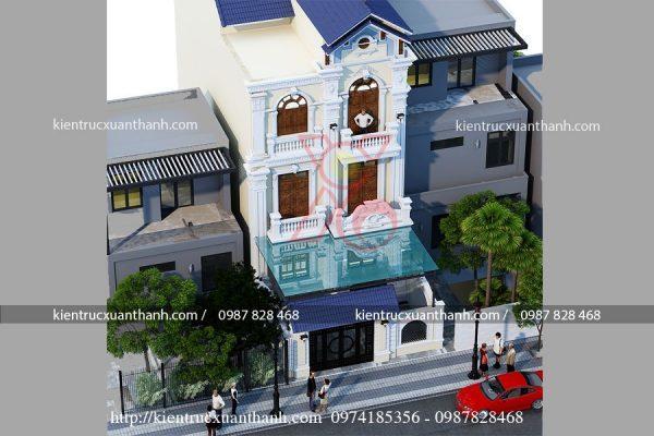 biệt thự tân cổ điển 3 tầng đẹp BT18471 - Ảnh 1