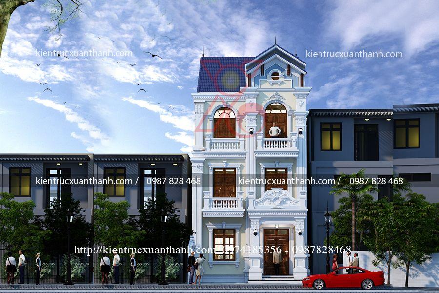biệt thự tân cổ điển 3 tầng đẹp BT18471 - Ảnh 3