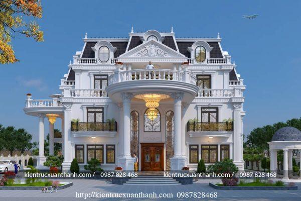 thiết kế lâu đài 3 tầng tân cổ BT18299 - Ảnh 2
