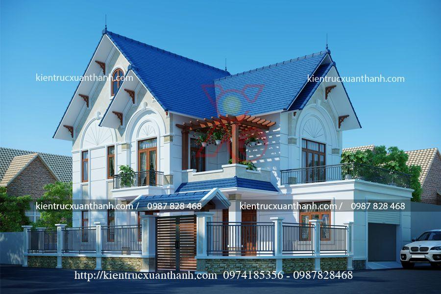 thiết kế biệt thự đẹp 2 tầng BT18319 - Ảnh 1