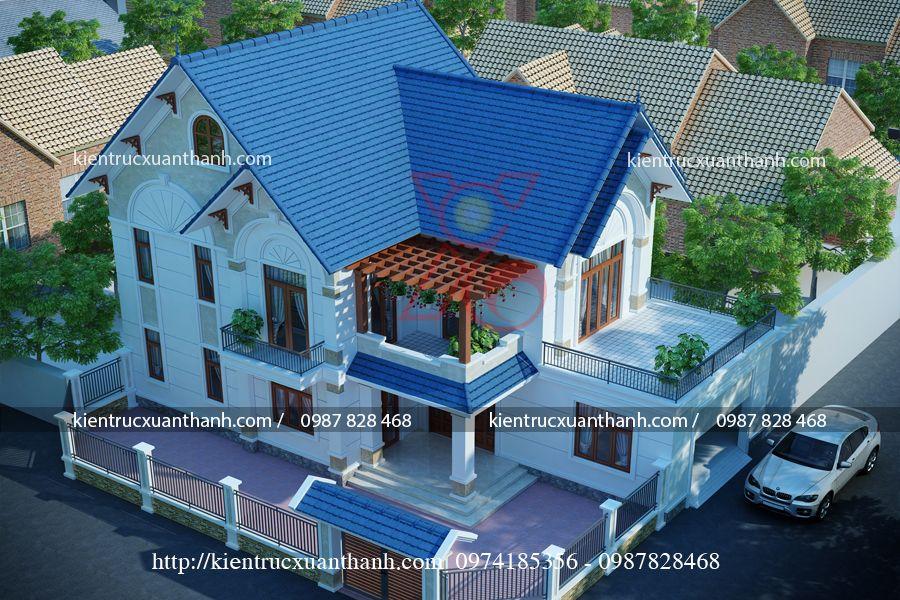 thiết kế biệt thự đẹp 2 tầng BT18319 - Ảnh 2