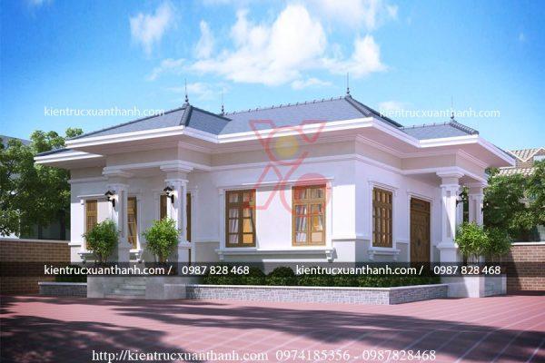 mẫu nhà biệt thự 1 tầng -BT18299 - Ảnh 1