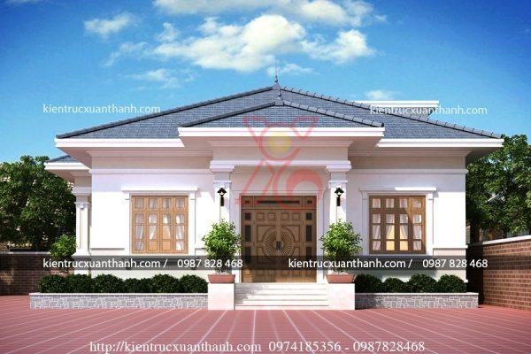 mẫu nhà biệt thự 1 tầng -BT18299 - Ảnh 2