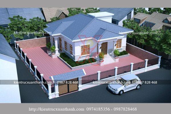 mẫu nhà biệt thự 1 tầng -BT18299 - Ảnh 3