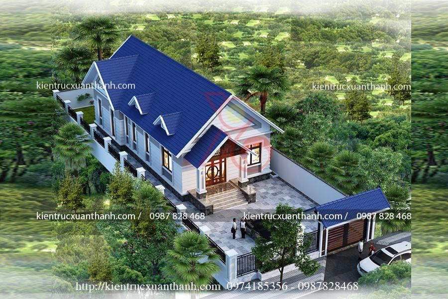 mẫu nhà biệt thự 1 tầng BT18300 - Ảnh 1