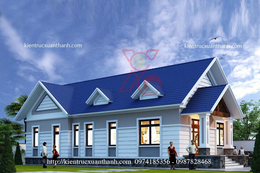 mẫu nhà biệt thự 1 tầng BT18300 - Ảnh 2