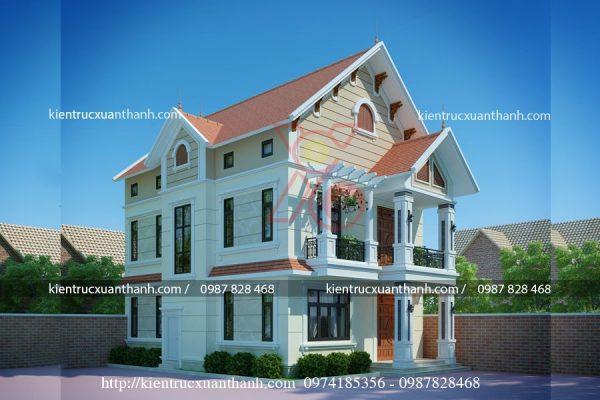 mẫu thiết kế biêt thự 2 tầng mái thái BT18320 - Ảnh 1