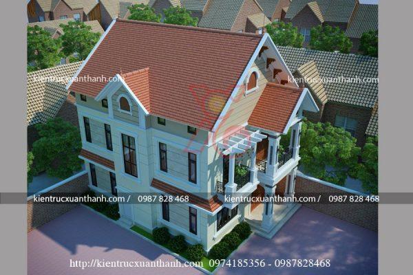 mẫu thiết kế biêt thự 2 tầng mái thái BT18320 - Ảnh 3