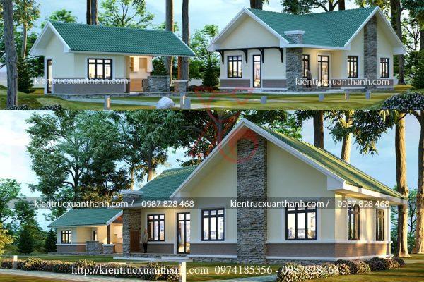 thiết kế nhà biệt thự 1 tầng BT18301 - Ảnh 1