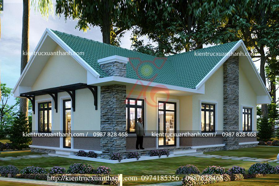 thiết kế nhà biệt thự 1 tầng BT18301 - Ảnh 2
