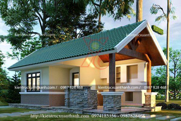 thiết kế nhà biệt thự 1 tầng BT18301 - Ảnh 3