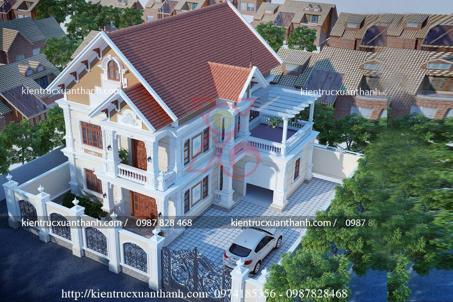 biệt thự 2 tầng tân cổ điển BT18323 - Ảnh 3